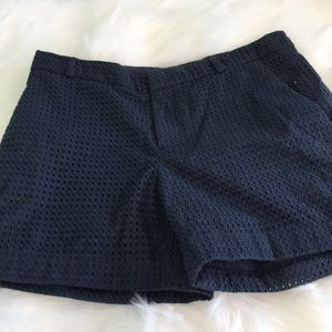 Banana Republic Navy Blue Lined Shorts